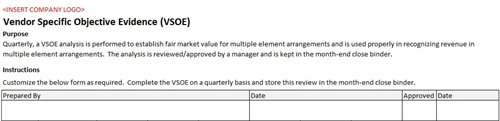Vsoe analysis accounting template for Sab 99 memo template