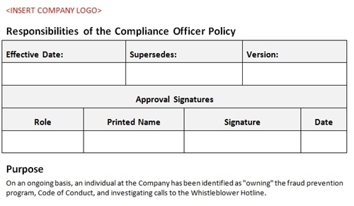 Responsibilities of compliance officer - Ethics compliance officer job description ...