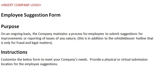Employee Suggestion Form Template from www.accountingtemplates.com